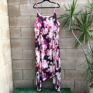 🌺 Lane Bryant Floral Dress 22/24 Plus